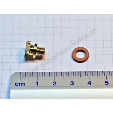 Screw for oiler M 6, brass
