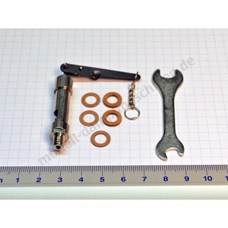 Sifflet de vapeur avec chaîne, filetage M 6