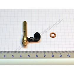Sifflet de vapeur, filetage M 5, avec levier en plastique