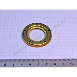 Metal surround for water gauge glass, 27 mm diameter, brass
