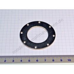 Metal surround for water gauge glass, 37 mm diameter