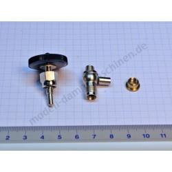 Dampfabsperrventil/Ablassventil mit Ventilkörperunterteil und Bundmutter/Lötring, vernickelt