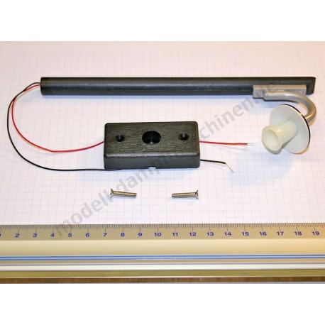 Laterne komplett für D 18 mit Sockel u. LED