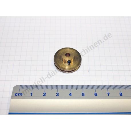 Poulie d'entraînement, laiton luisant, diamètre 24 mm