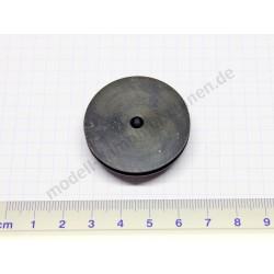 Poulie d'entraînement, aluminium noir, diamètre 38 mm