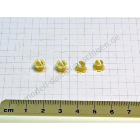 Plastic slide bearing bushing, 4 mm diameter