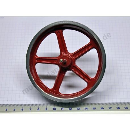 Flywheel, 100 mm diameter, with axle