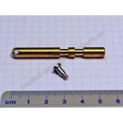 Slide valve with screw, diam. 6 mm