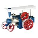Wilesco D405 Tracteur à vapeur bleu
