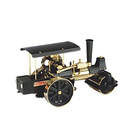 D396 Rouleau compresseur à vapeur noir / laiton incl. télécommande