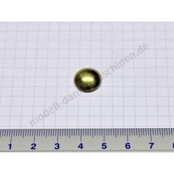 Befestigungskappe für 4 mm Achse, messing