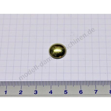 Wheel locking caps for 5 mm axle (brass)