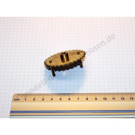 Engrenage pour chaîne, diamètre 61 mm, 30 dents, alésage 5 mm