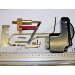 Pompe à eau, complète, avec bassin de conduite, pièce de fixation en métal, tuyau de vapeur et joint