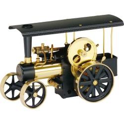 Wilesco D406 Tracteur à vapeur noir / laiton