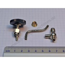 Wasserablassventil mit Ventilkörperunterteil, Ablaufrohr, Bundmutter/Lötring