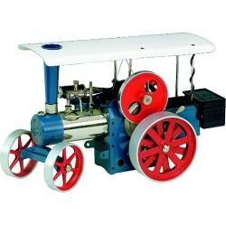 Wilesco D495 Tracteur à vapeur bleu incl. télécommande
