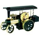 Wilesco D496 Tracteur à vapeur noir / laiton incl. télécommande