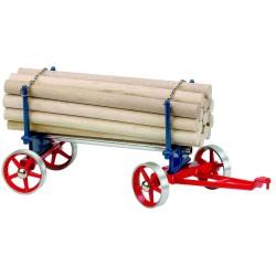 Wilesco A425 Chariot avec chargement de bois longs