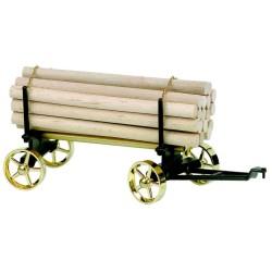 Wilesco A426 Chariot avec chargement de bois longs noir / laiton